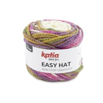 Pelote de fil à tricoter Katia Easy hat rose