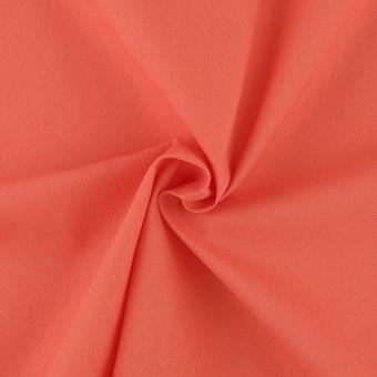 Tissu polycoton uni corail