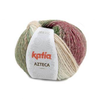 Pelote de fil à tricoter Katia Azteca écru vert rose marron
