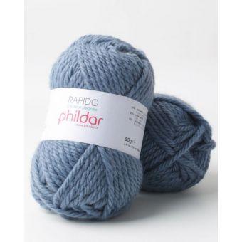 Pelote de fil à tricoter Phildar Rapido jeans