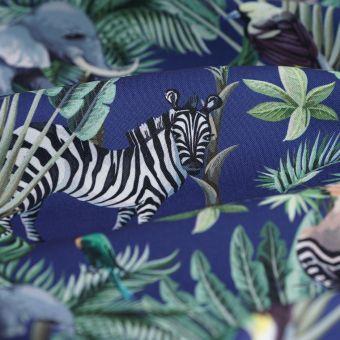 Tissu toile extérieur imprimé jungle