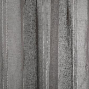 Tissu voile lin gris anthracite