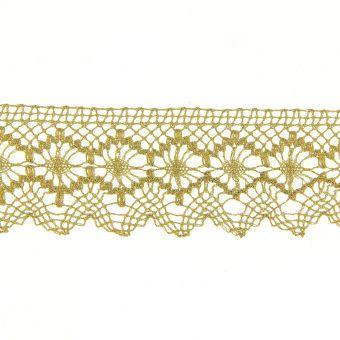 Dentelle métallisée doré 50 mm