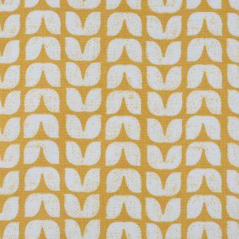 Tissu enduit coton épais tulipe jaune