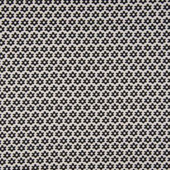 Tissu popeline coton à motifs marguerites taupe
