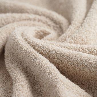 Tissu éponge bio beige