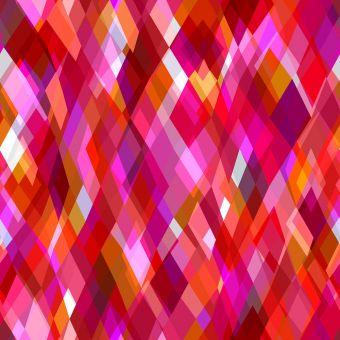 Tissu popeline de viscose Dashwood motifs losanges rouge