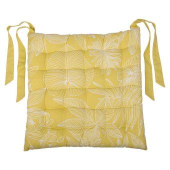Galette de chaise palma jaune