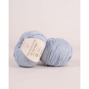Pelote de coton à tricoter Phildar Ecocoton ciel