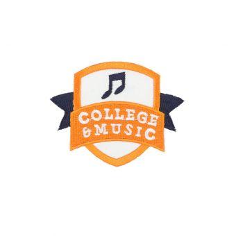 Écusson thermocollant college music orange et blanc