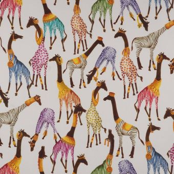 Tissu coton épais girafes