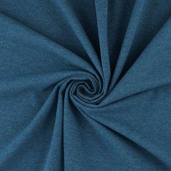 Tissu jersey bio et recyclé bleu