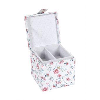 Boîte de couture carré fleurs