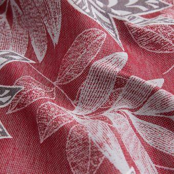 Tissu jacquard Californie polyester recyclé rouge