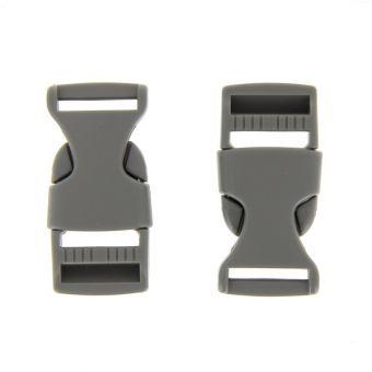 Boucles à ouverture rapide grises en plastique 20 mm