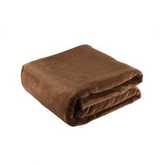 Plaid flanelle 125x150 chocolat