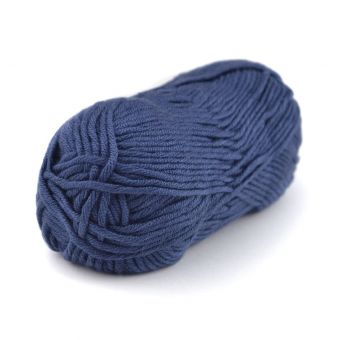 Pelote de fil à tricoter Plassard Songe bleu marine