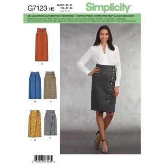 Patron Simplicity 8792 jupe 34 à 50