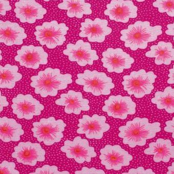 Tissu Popeline de coton osami rose - Petit Pan