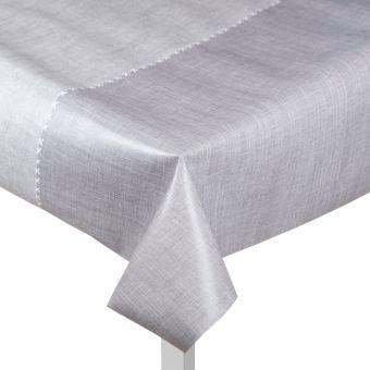 Toile cirée grise effet nappe