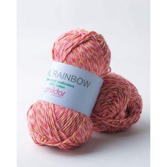 Fil à tricoter Phildar rainbow pivoine
