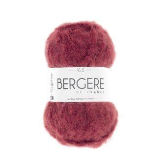 Pelote de fil à tricoter Polette Bergère de France carmin