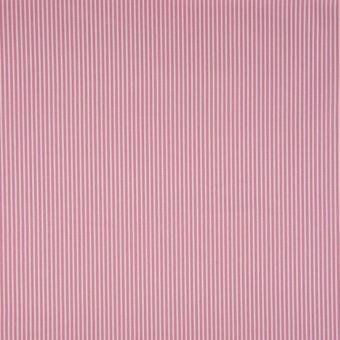 Tissu popeline coton à motifs rayures rose pale
