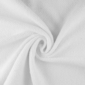 Tissu éponge nid d'abeille blanc Sparkle