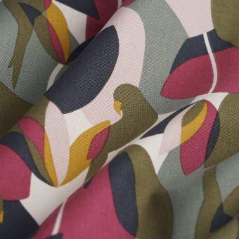 Tissu coton épais perroquets