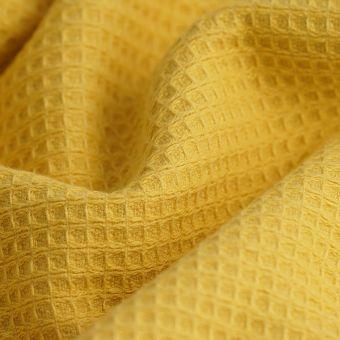 Tissu éponge nid d'abeille Marbella jaune
