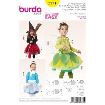 Patron Sorcière, Princesse des glaces et Efle - Burda n°2371