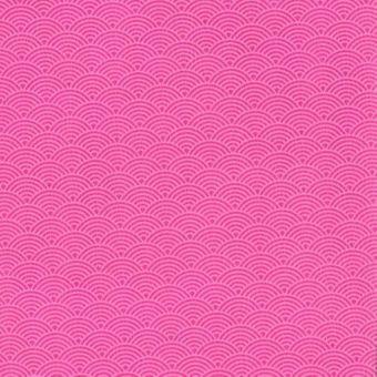 Simili cuir imprimé écailles roses