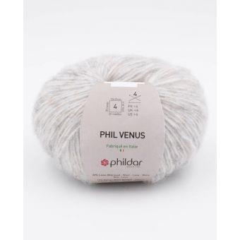 Pelote de fil à tricoter Phildar Vénus perle