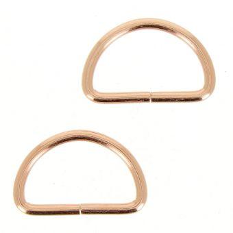 Boucles demi-anneaux bronze 32 mm