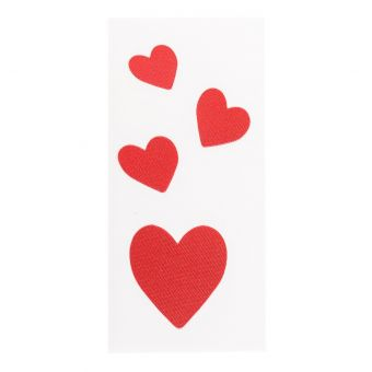 Sticker thermocollant rouge cœurs