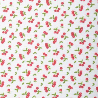 Tissu PUL pour couches lavables imprimé cerises