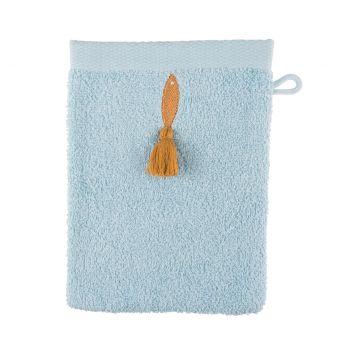 Gant de toilette bleu poisson