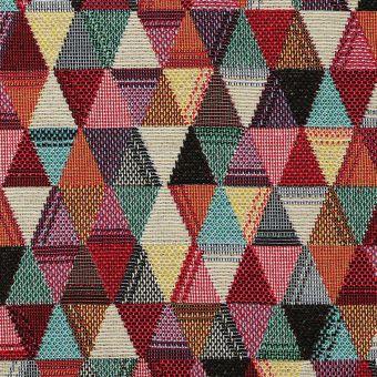 Tissu jacquard triangle multicolore