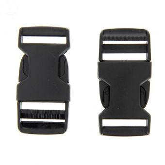 Boucles à ouverture rapide noires en plastique 25 mm