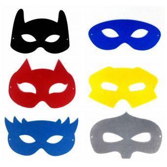Masque pour enfant en feutrine à customiser 12 pièces