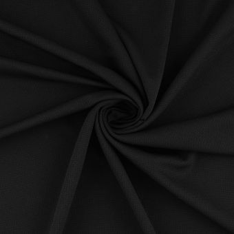 Tissu sport noir polyester recyclé anti-odeur