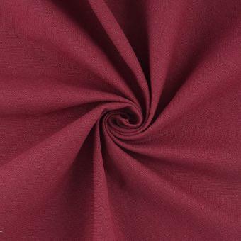 Tissu demi natté rouge coton recyclé