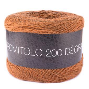 Fil à tricoter dégradé marron/orange