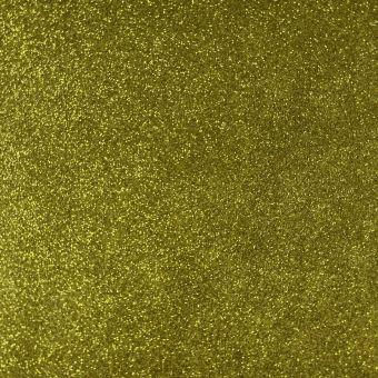 Tissu gomme caoutchouc Eva pailletée or au mètre