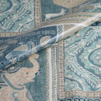 Toile enduite épaisse patch bleu