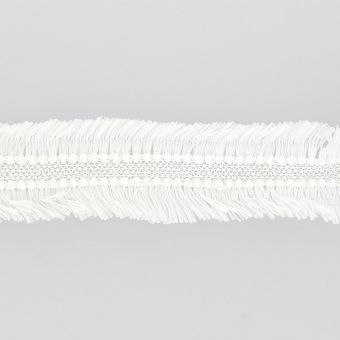 Ruban dentelle à franges blanc 35mm