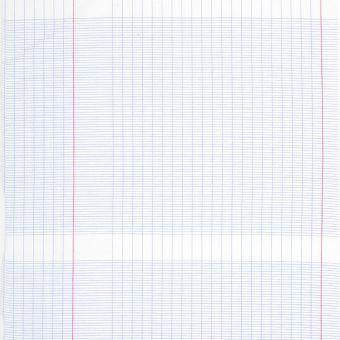 Tissu coton imprimé cahier d'école