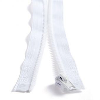 Fermeture plastique séparable n° 5 - Blanc