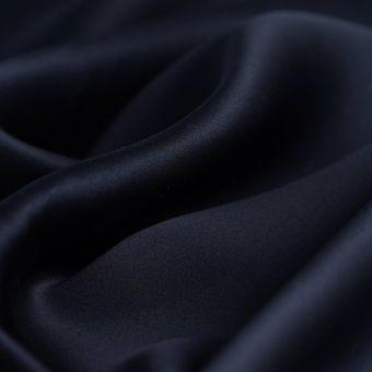 Tissu soie unie bleu marine