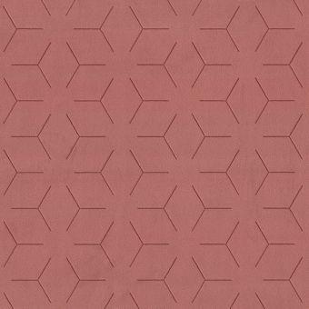 Tissu velours traits géométrique terra cotta